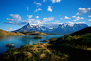 Lago (Lake) Pehoe, Torres de Paine, Patagonia, Chile<br />