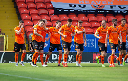 Dundee United's Lawrence Shankland cele scoring their first goal. half time : Dundee United 2 v 1 Inverness Caledonian Thistle, first Scottish Championship game of season 2019-2020, played 3/8/2019 at Tannadice Park, Dundee.