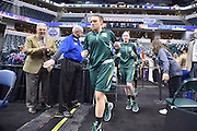 April 4, 2016; Indianapolis, Ind.; The UAA women's basketball team enters the court before the NCAA Division II Women's Basketball National Championship game at Bankers Life Fieldhouse between UAA and Lubbock Christian.