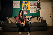 Sacramento, California- February 24, 2020: Mai Vang, District 8 poses for a portrait in her living room. If elected Mai Vang will be the first Hmong woman and the first millenial to hold a seat on Sacramento City Council. She would also be the 14th woman since 1850 to serve on the Sacramento City Council.
