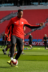 September 1, 2017 - Toronto, Ontario, Canada - Cyle Larin during open training session conference in Toronto before the Canada-Jamaica Men's International Friendly match at BMO Field in Toronto Canada September 2, 2017  (Credit Image: © Anatoliy Cherkasov/NurPhoto via ZUMA Press)