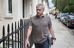 © Licensed to London News Pictures. 24/05/2016. London, UK. Jose Mourinho walks into his house. Mourinho is expected to be named as Manchester United manager in the next few days. Photo credit: Peter Macdiarmid/LNP