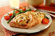 Cheese in pastry pie with vegetables food photos.