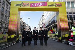 City Guides at the start line during the 2019 London Landmarks Half Marathon.