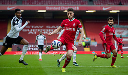 LIVERPOOL, ENGLAND - Sunday, March 7, 2021: Liverpool's Diogo Jota during the FA Premier League match between Liverpool FC and Fulham FC at Anfield. Fulham won 1-0 extending Liverpool's run to six consecutive home defeats. (Pic by David Rawcliffe/Propaganda)