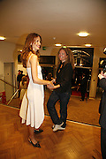 Saffron Burrows and Stephanie Theobalds. Sadler's Wells Celebrates. Benefit evening for Sadler's Wells hosted by Angela Bernstein and Alistair Spalding. The Royal Horticultural Halls. London. 25 September 2006. -DO NOT ARCHIVE-© Copyright Photograph by Dafydd Jones 66 Stockwell Park Rd. London SW9 0DA Tel 020 7733 0108 www.dafjones.com