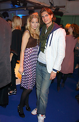 MARISSA MONTGOMERY and EDOUARD DESFORGES at a VIP party to celebrate the launch of the new Fiat Punto held at the Truman Brewery 91 Brick Lane, Loncon on 19th January 2006.<br /><br />NON EXCLUSIVE - WORLD RIGHTS