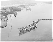 "Ackroyd 10971-4 ""Port  of Portland. June 8, 1962"" (dredging Gunderson material across Willamette to Swan Island)"