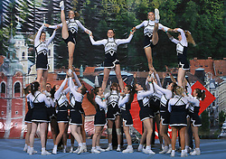 Rising Stars, UK during All Female senior at second day of European Cheerleading Championship 2008, on July 6, 2008, in Arena Tivoli, Ljubljana, Slovenia. (Photo by Vid Ponikvar / Sportal Images).