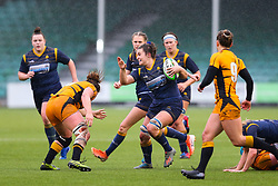 Jo Brown of Worcester Warriors Women makes a break - Mandatory by-line: Nick Browning/JMP - 24/10/2020 - RUGBY - Sixways Stadium - Worcester, England - Worcester Warriors Women v Wasps FC Ladies - Allianz Premier 15s