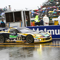 #72 Chevrolet Corvette C6R, Luc Alphand Aventures (drivers: Policand, Goueslard, Alphand) GT1 (12th overall, 7th in class) at Le Mans 24H 2007
