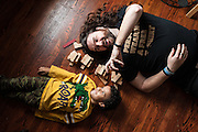 BALTIMORE, MD -- 12/22/14 -- Benjamin Jancewicz, 31, a designer from Baltimore, with his son, Arion Jancewicz, 6, talks about the complexity of being a biracial family.…by André Chung #_AC23823