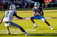 Dorman Cavaliers running back Chance Black (5) looks to get around Dutch Fork Silver Foxes cornerback Trace Danley (2) in the Class AAAAA State Championship Game at Williams-Brice Stadium in Columbia, SC. Dutch Fork wins their 4th straight state championship at Williams Brice Stadium. Photos ©JeffBlakePhoto.com