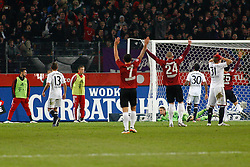 23.10.2011, AWD-Arena, Hannover, GER, 1.FBL, Hannover 96 vs FC Bayern Muenchen, im Bild jubel ueber das 2 zu 0 durch Christian Pander (Hannover #24).// during the match from GER, 1.FBL, Hannover 96 vs FC Bayern Muenchen on 2011/10/23, AWD-Arena, Hannover, Germany. .EXPA Pictures © 2011, PhotoCredit: EXPA/ nph/  Schrader       ****** out of GER / CRO  / BEL ******