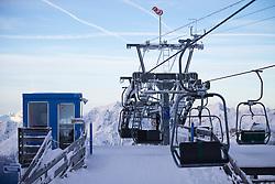 """TEMENBILD - Mölltaler Gletscher ist der Name für ein Skigebiet in Österreich, Kärnten, in der Nähe von Flattach. Das Skigebiet ist im Besitz der Schultz Gruppe. Das Skigebiet dient in den Sommer und Herbstmonaten als T Trainingstätte für den Internationalen Ski Zirkus. Aufgenommen am 17.10.2012. Hier im Bild Bergstation am Gipfellift Schareck (3.122m) """"Sesselbahn 3000"""" // THEME IMAGE FEATURE - Moelltal Glacier is the name of a ski resort in Austria, Carinthia, near Flattach. The resort is owned by the Schultz group. The ski area is in the summer and autumn months as T training venue for the International Ski Circus. The image was taken on october, 17th, 2012. Picture shows the mountain station of chairlift to Schareck (3.122m) """"Sesselbahn 3000"""" . EXPA Pictures © 2012, PhotoCredit: EXPA/ J. Groder"""
