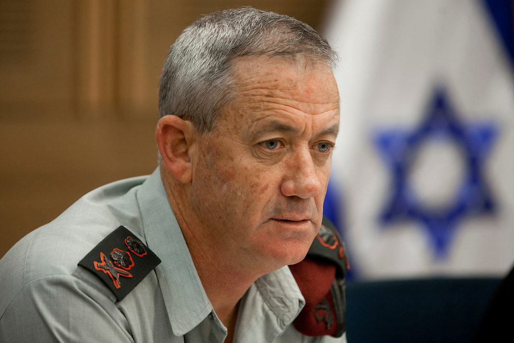 Israeli Chief of Staff, Lieutenant-General Benny Gantz attends a session of the State Control Committee at the Knesset, Israel's parliament in Jerusalem, on January 22, 2012.