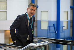 © Licensed to London News Pictures. 02/10/2018. Birmingham, UK. DAVID GAUKE MP at day three of the 2018 Conservative Party conference at the ICC in Birmingham. This years event is focused heavily on Brexit and negotiations with the EU over the UK's exit form the European Union. Photo credit: Ben Cawthra/LNP