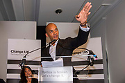 Change UK MP Chuka Umunna speaks during a Peoples Vote Remain rally for the European elections by newly formed political party Change UK in London on 30th April, 2019 in London, England, United Kingdom. Change UK - The Independent Group, was formed in February 2019 by breakaway members of Parliaments from Conservative and Labour parties. The group are pro European Union and are calling for a peoples vote on Britainss exit from the union.