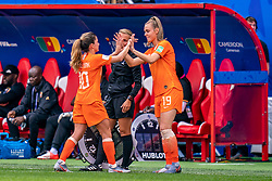 15-06-2019 FRA: Netherlands - Cameroon, Valenciennes<br /> FIFA Women's World Cup France group E match between Netherlands and Cameroon at Stade du Hainaut / Daniëlle van de Donk #10 of the Netherlands, Jill Roord #19 of the Netherlands