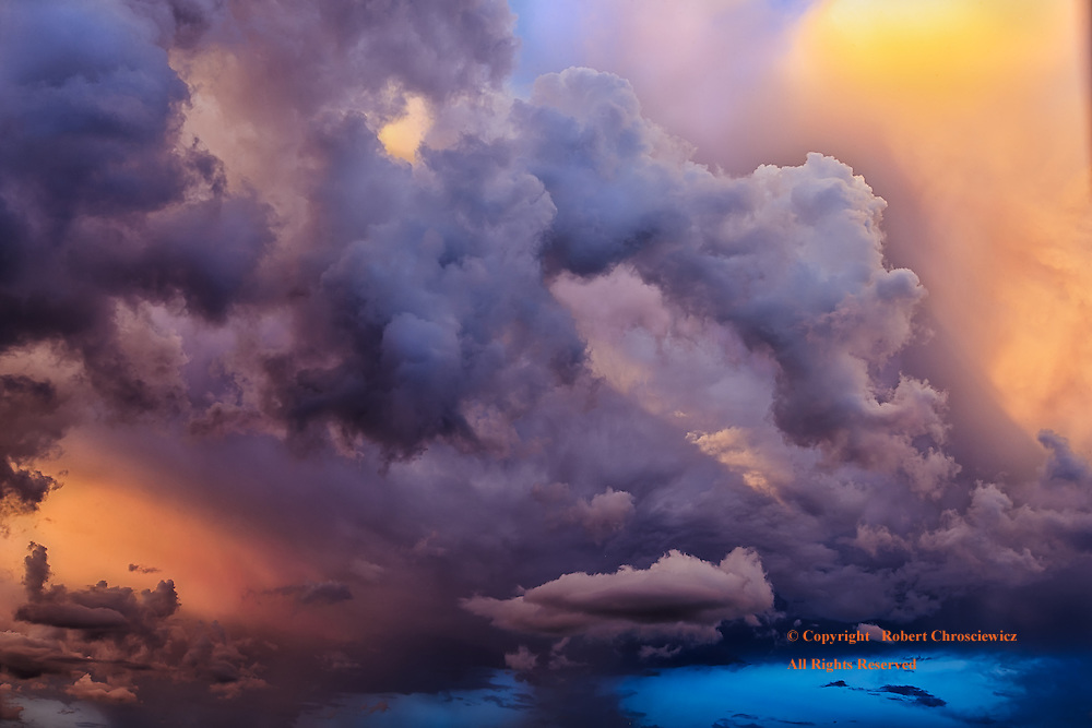 Surreal Display: This cloud formation at sunset makes for a most surrealistic display of shifting colour and form, Santiago de Cuba, Cuba.