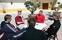 Fotball<br /> La Manga 2006<br /> 18.02.2006<br /> Foto: Morten Olsen, Digitalsport<br /> <br /> L-R: Tom Prahl / Viking - Arne Sandstø / Odd Grenland - Mons Ivar Mjelde / Brann - Ivar Morten Normark / Tromsø