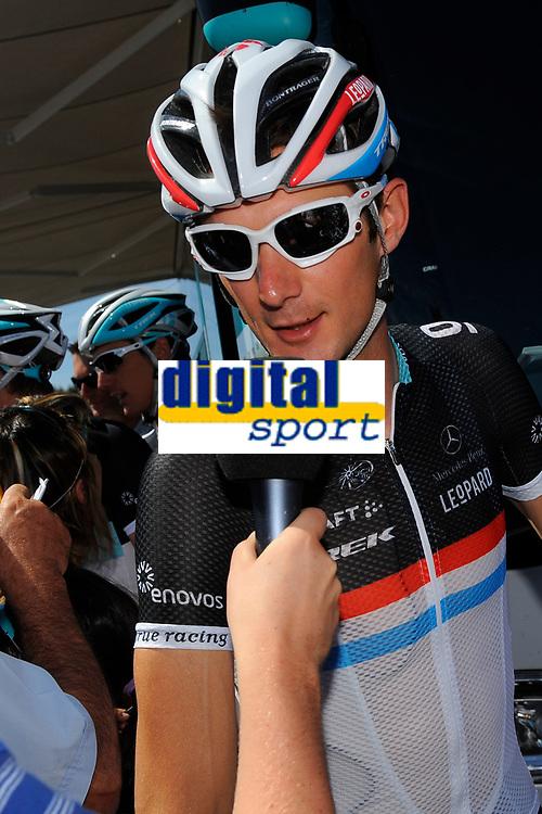 CYCLING - TOUR DE FRANCE 2011 - STAGE 3 - Olonne-sur-Mer > Redon (198 km) - 04/07/2011 - PHOTO : JULIEN CROSNIER / DPPI - FRANK SCHLECK (BEL) / TEAM LEOPARD TREK