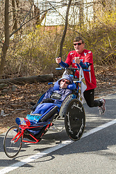 2014 Boston Marathon: Dick and Rick Hoyt run their last Boston Marathon