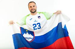 Uros Zorman, former handball player of Slovenia posing for commercial of Rokometna simfonija 2019, on April 14, 2019, in Zrece, Slovenia. Photo by Vid Ponikvar / Sportida