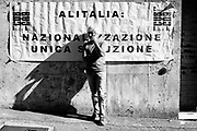 Alitalia trade unions protest. Rome 12 October 2018. Christian Mantuano / OneShot