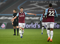 Football - 2020 /2021Premier League - West Ham United vs Fulham - The London Stadium<br /> <br /> West Ham United's Declan Rice gestures to Sebastien Haller.<br /> <br /> COLORSPORT/ASHLEY WESTERN