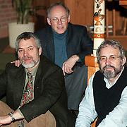 Dominee Rob Doesburg, Dominee Hans Hofstra en Riekert Kok in de Akker
