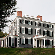 """The Codman Estate in Lincoln, MA. Overlooking a prospect of farm and pleasure grounds, this country seat, also known as """"The Grange,"""" was a powerful force in the lives of five generations of the Codman family. Each generation that lived here left its mark, and the estate gradually came to symbolize the family's distinguished past. It was built c. 1740."""