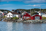 Fishing sheds in Marguerite bay in St. Anthony, Newfoundland, Canada