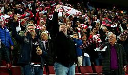 Cologne fans swing their scarfs above their heads - Mandatory by-line: Robbie Stephenson/JMP - 23/11/2017 - FOOTBALL - RheinEnergieSTADION - Cologne,  - Cologne v Arsenal - UEFA Europa League Group H