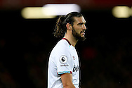 Andy Carroll of West Ham United looks on. Premier League match, Liverpool v West Ham Utd at the Anfield stadium in Liverpool, Merseyside on Sunday 11th December 2016.<br /> pic by Chris Stading, Andrew Orchard sports photography.
