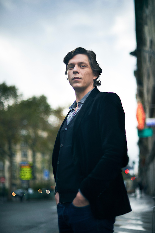 Paris, France. October 17, 2016. Antoine Leiris, in his editors' neighbor, not far from Montparnasse. He recently wrote a book about surviving his wife's death during the terror attack at the Bataclan. Photo: Antoine Doyen