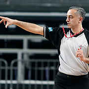 Referee's Zafer YILMAZ during their Turkish Basketball league match Efes Pilsen between Tofas at the Sinan Erdem Arena in Istanbul Turkey on Sunday 27 February 2011. Photo by TURKPIX