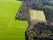 Nederland, Friesland, Gemeente Gaasterlan-Sleat, 16-04-2012; Gaasterland, onderdeel van Nationaal Landschap Zuidwest Fryslan. Lycklemabosch (Lycklemabos), Golfclub Gaasterland, Nijemirdum (Nijemardum)..Southwest Friesland..luchtfoto (toeslag), aerial photo (additional fee required).foto/photo Siebe Swart
