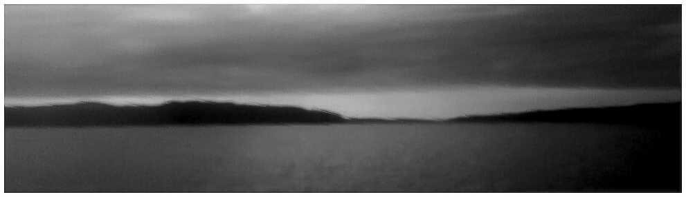 monochrome Hood Canal panorama with little detail