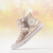 Glitter Gold Converse Chuck Taylor All-Star Basketball Shoes