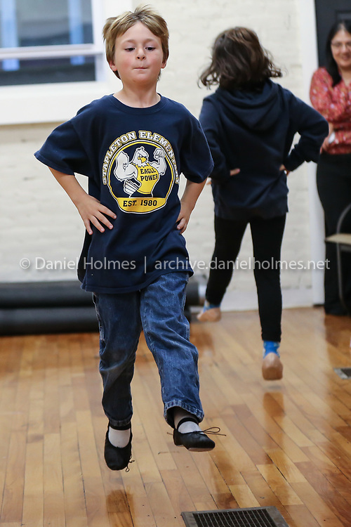 (10/21/19, NATICK, MA) David Morse, 7, of Framingham, dances during dance class at Nancy Kelley Dance Studio in Natick on Monday. The business reopened almost three months to the day after a fire destroyed the business along with seven others in downtown Natick. [Daily News and Wicked Local Photo/Dan Holmes]