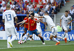 July 1, 2018 - Moscow, Russia - Round of 16 Russia v Spain - FIFA World Cup Russia 2018.Isco (Spain) in action at Luzhniki Stadium in Moscow, Russia on July 1, 2018. (Credit Image: © Matteo Ciambelli/NurPhoto via ZUMA Press)