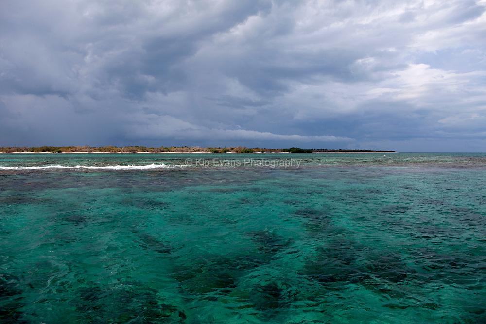 A storm approaches Jardines de la Reina, a National Park, off the south coast of Cuba.