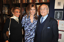 Centre, MARYAM SACHS flanked by her parents MONSEN & AZAR BANIHASHEM at a party to celebrate the publication of Maryam Sach's novel 'Without Saying Goodbye' held at Sotheran's Bookshop, 2 Sackville Street, London on 10th November 2009.