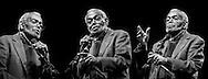 Composizione di ritratti di Amiri Baraka, poeta e attivista politico rivoluzionario americano. Composition of portraits of Amiri Baraka, American poet and political activist.