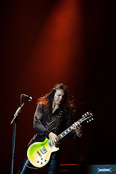 © Licensed to London News Pictures . 15/12/2015 . Manchester , UK . ROBBIE CRANE . Black Star Riders perform at the Manchester Arena . Photo credit : LNP