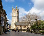 Historic building church of Saint John city centre, Cardiff, South Wales, UK