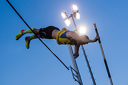 Robert Renner competes in Pole Vault during day one of the 2020 Slovenian Cup in ZAK Stadium on July 4, 2020 in Ljubljana, Slovenia. Photo by Grega Valancic / Sportida
