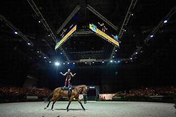 Rikke Laumann, (DEN), Ghost Alfarvad Z, Lasse Kristensen - Individuals Women Technical Vaulting - Alltech FEI World Equestrian Games™ 2014 - Normandy, France.<br /> © Hippo Foto Team - Jon Stroud<br /> 04/09/2014