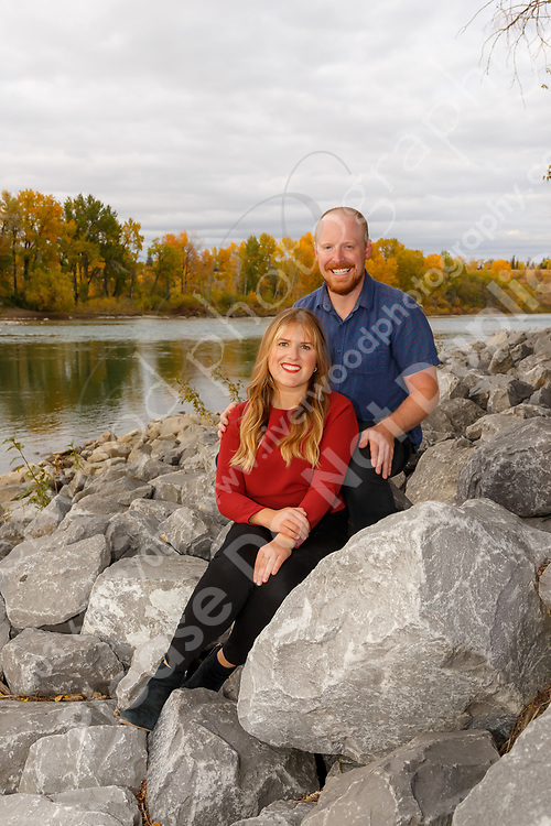 Outdoor fall family portraits at Prince's Island Park and the Peace Bridge in downtown Calgary. <br /> <br /> ©2020, Sean Phillips<br /> http://www.RiverwoodPhotography.com